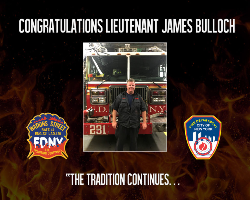 Congrats To Newly Promoted Lt. Jimmy Bulloch (E231)